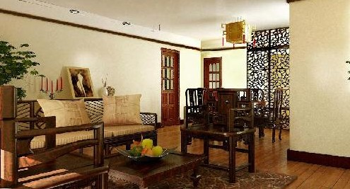 中国风时尚客厅装饰 文化元素体现出来